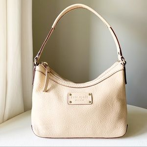 Kate Spade - Pebbled Leather Cream Gold Sling Hobo